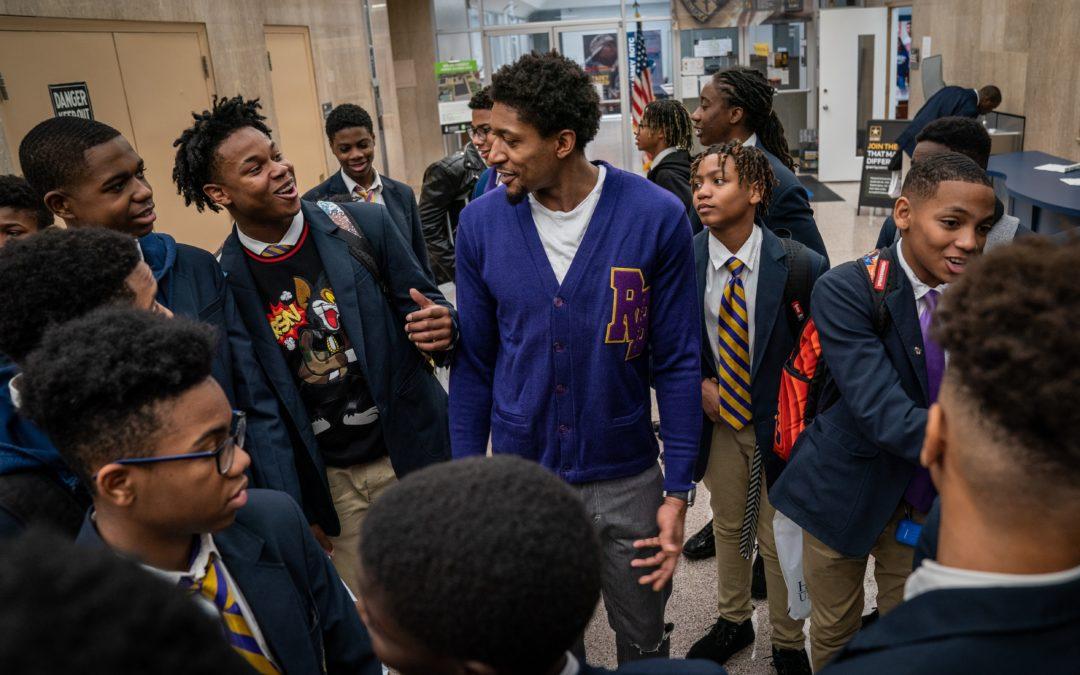 Washington Wizards' Bradley Beal Takes 50 Students on Howard University Tour