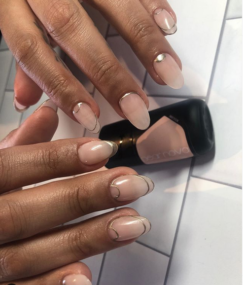 Black Woman with Manicured Nails