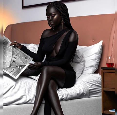 Beautiful Dark-Skinned Instagram Model is Allegedly Worth $4 Million
