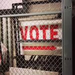 Closed Vote Sign Texas