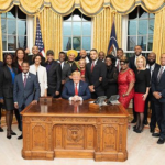 Donald Trump at the African American History Reception at White House