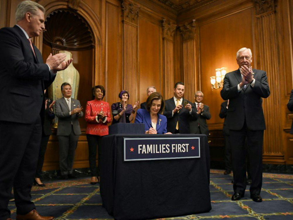 House Speaker Nancy Pelosi stimulus package
