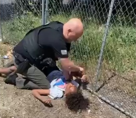 California cop and unarmed black teen