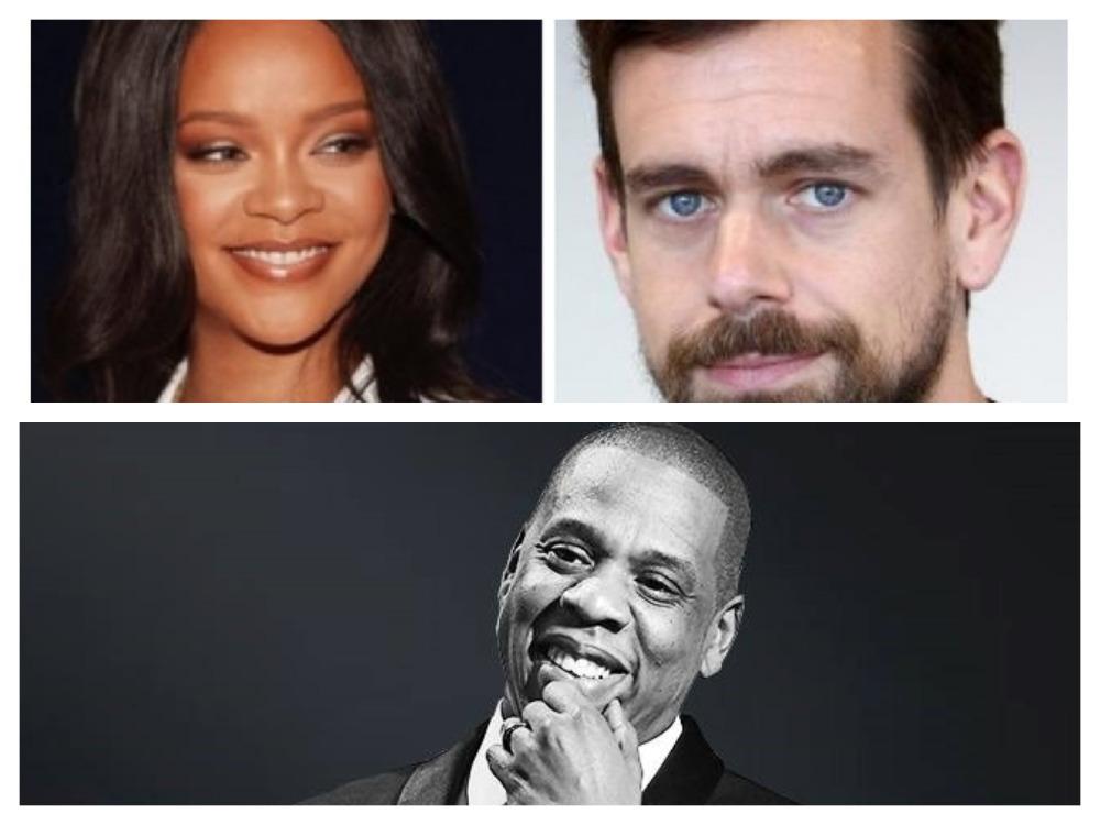 Rihanna, Jack Dorsey, Jay-Z