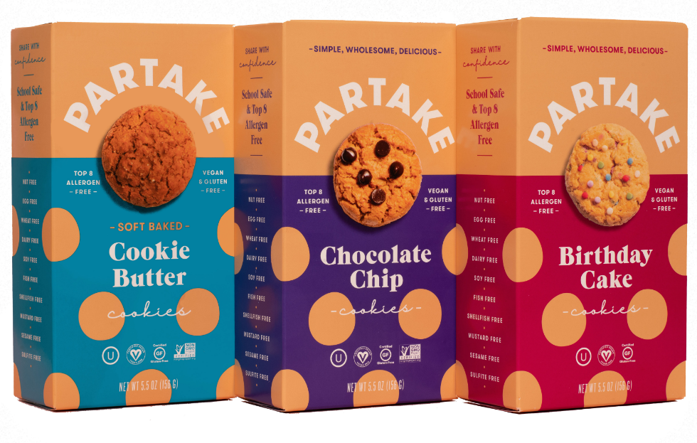 Partake Foods vegan cookies