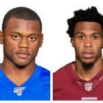 NFL players Deandre Baker and Quinton Dunbar