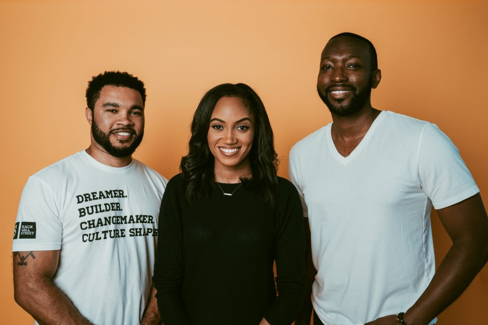 (left to right) Barry Givens, Jewel Burks, and Justin Dawkins, owner of Collab Capital