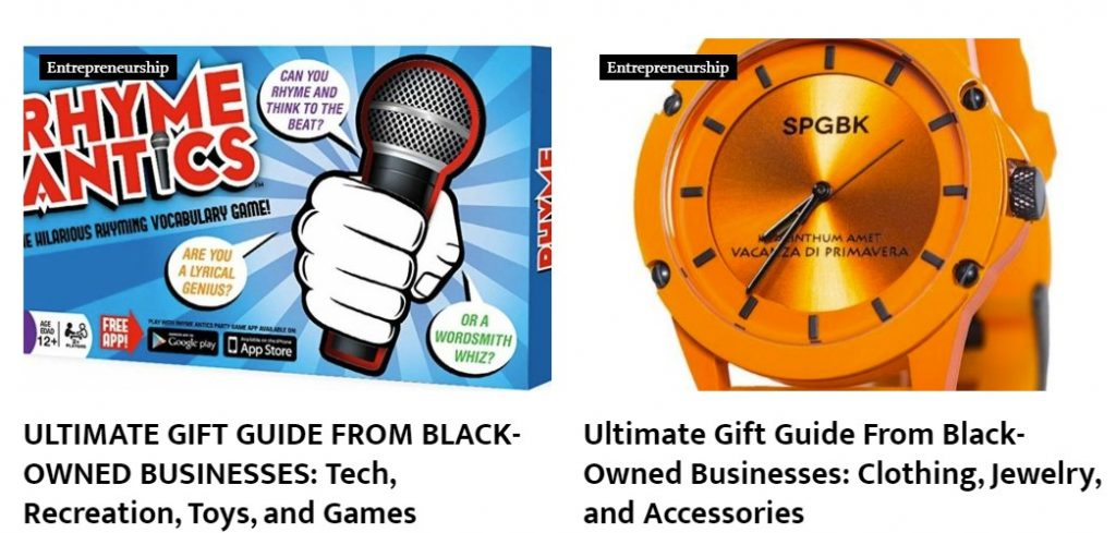Black Enterprise Gift Guide Black-Owned Businesses