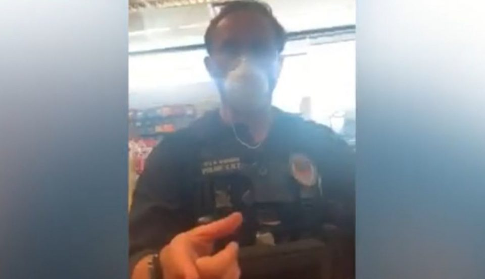White police officers question black man in Texas