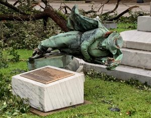 Hurricane Laura Takes out Confederate statue