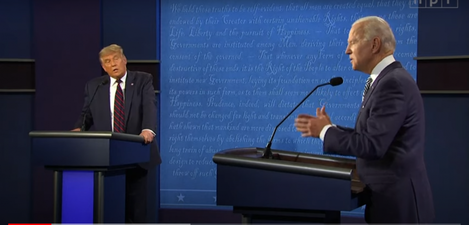 The First Presidential Debate Wasted No Time Spiraling Out Of Control