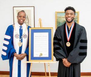 Howard University Wayne Frederick and Chadwick Boseman
