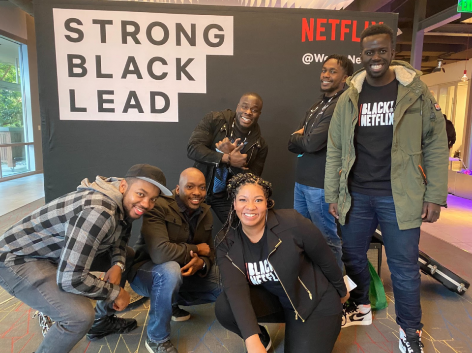 Netflix employees and devColor members at an event held at our Los Gatos office in January.