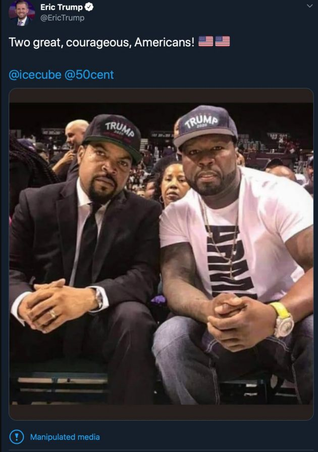 Doctored Ice Cube 50 Cent photo