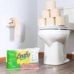 Leafy toilet paper
