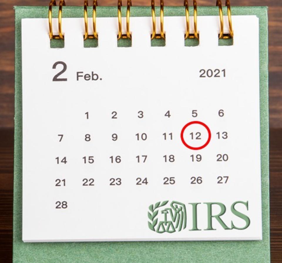 IRS Calendar for Tax Season