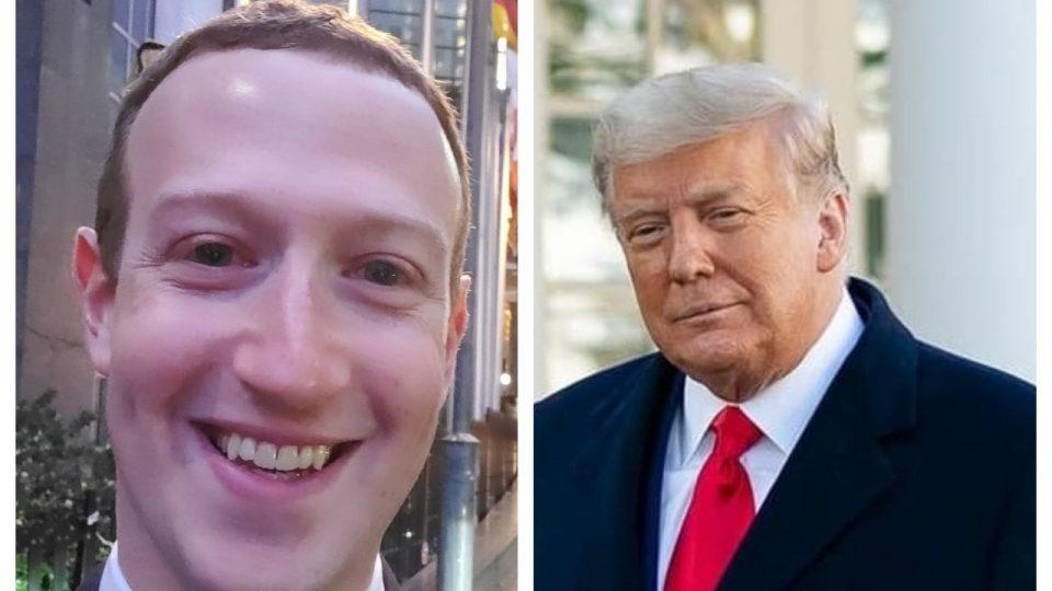 MArk Zuckerberg blocks Trump