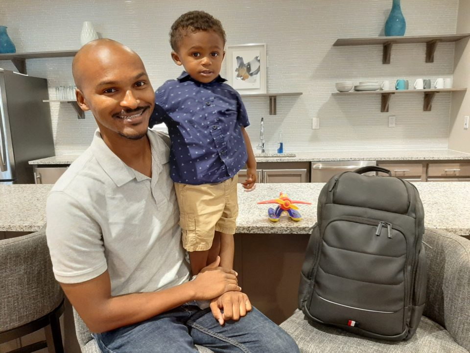 Kwame White Diaper Bags of Dads