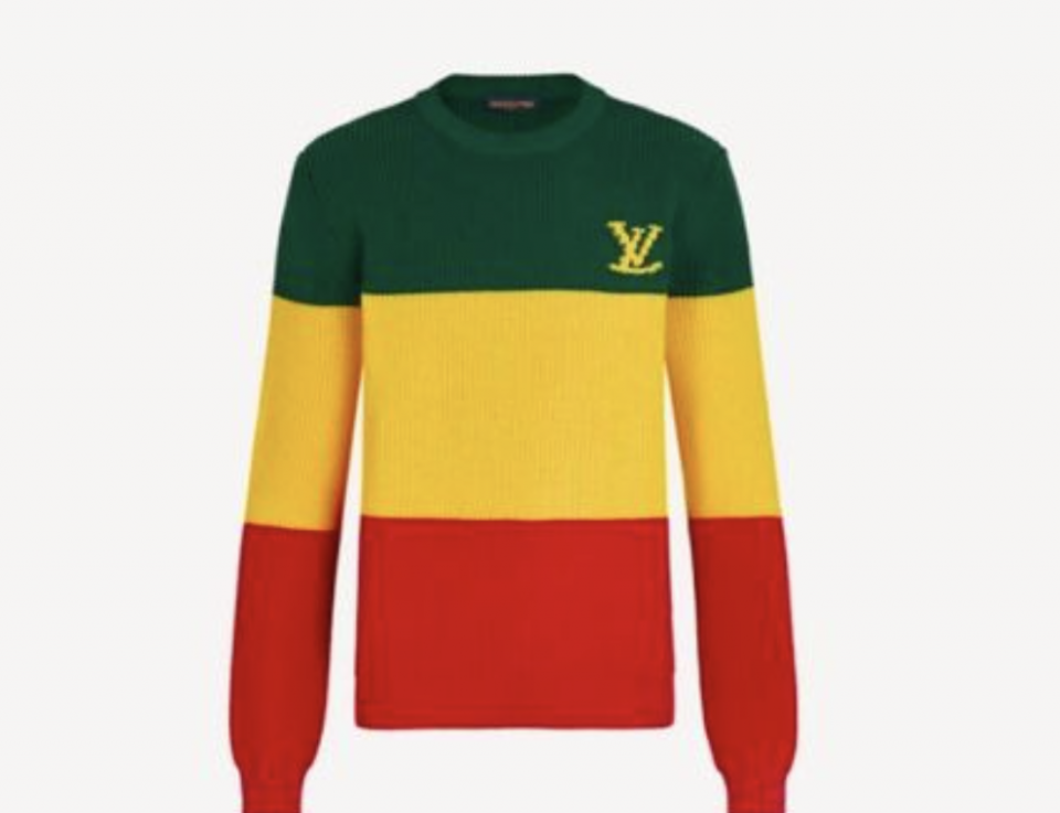 Jamaica flag Jamaican brand Jamaican Louis Vuitton sweater