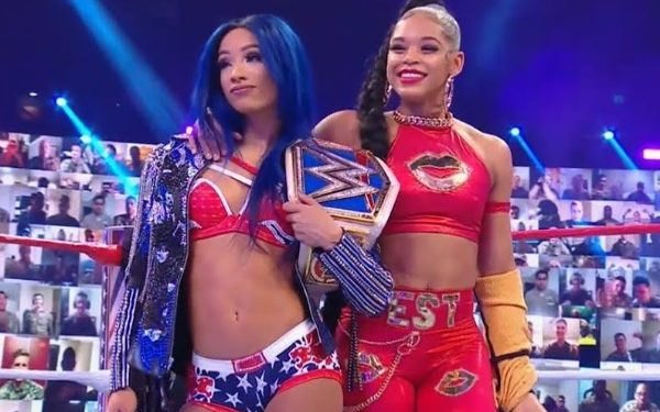 Bianca Belair and Sasha Banks