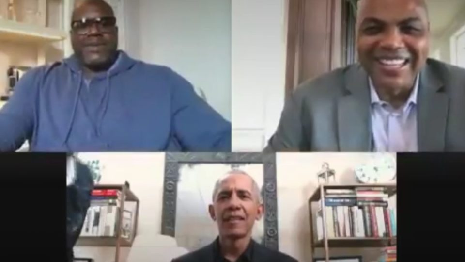 Shaquille O'Neal, Charles Barkley, Barack Obama