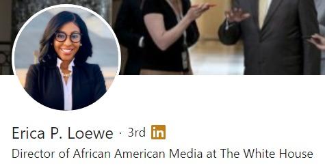 Erica P. Loewe Begins Her New Role as the Director of African American Media to President Joe Biden