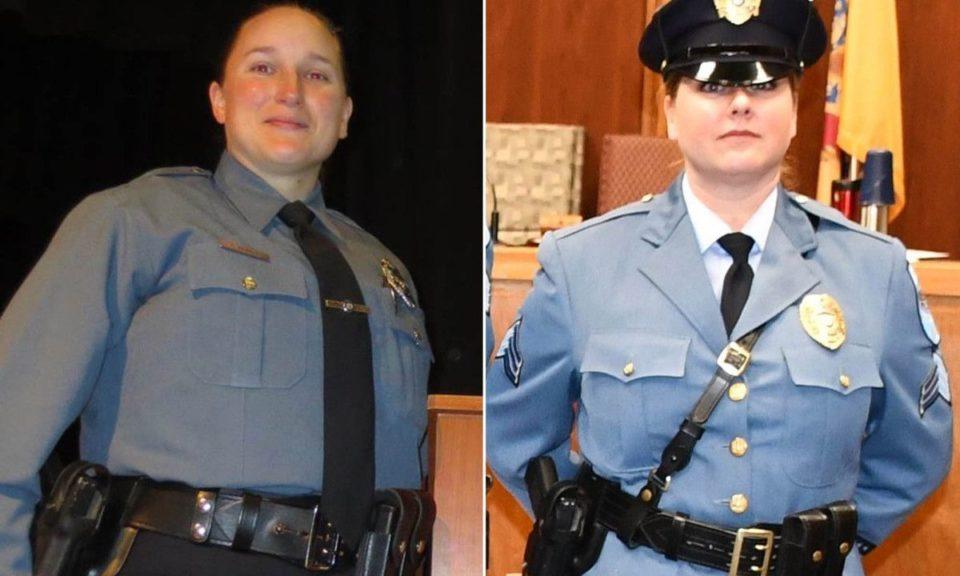 Sara Erwin and Sgt. Mandy Grey