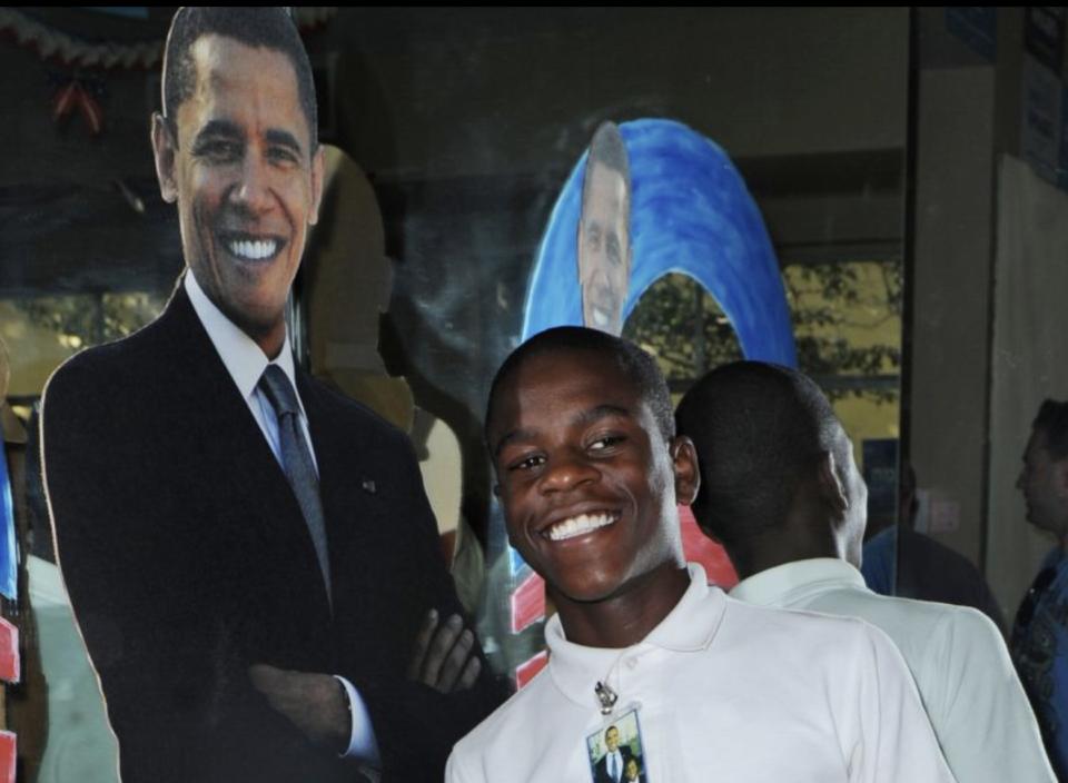 Damon Weaver Canal Point Elementary SchoolBarack Obama president interview Candace Hardy