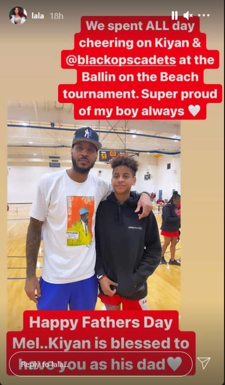 United They Stand: Lala and Carmelo Anthony Attend Son's Basketball Game Amid Divorce Suit