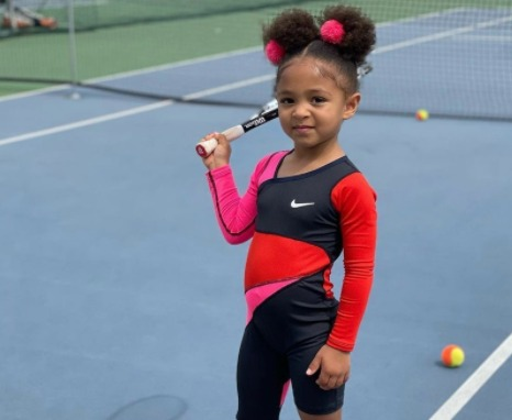 Serena Williams' Daughter Twins in a Mini Version of Her Mom's Australian Open Outfit