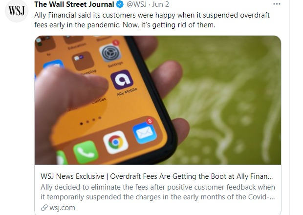 Ally Bank Recently Eliminated Overdraft Fees for Customers