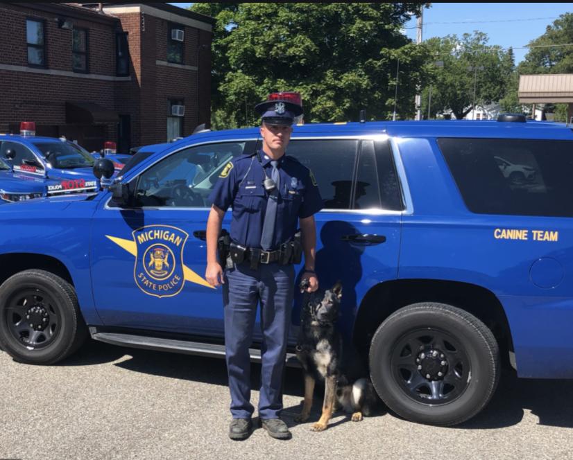 Robert Gilliam, Parker Surbrook, Michigan State Police, k-9