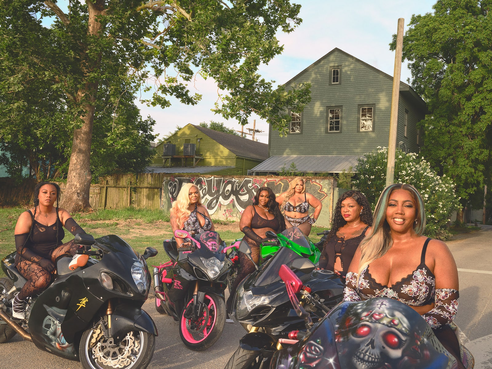 Caramel Curves, motorcycle, Savage X Fenty, campaign