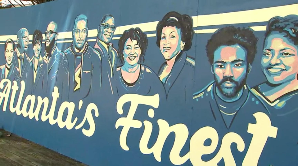 Mural by Aziza Andre in Atlanta's East Point