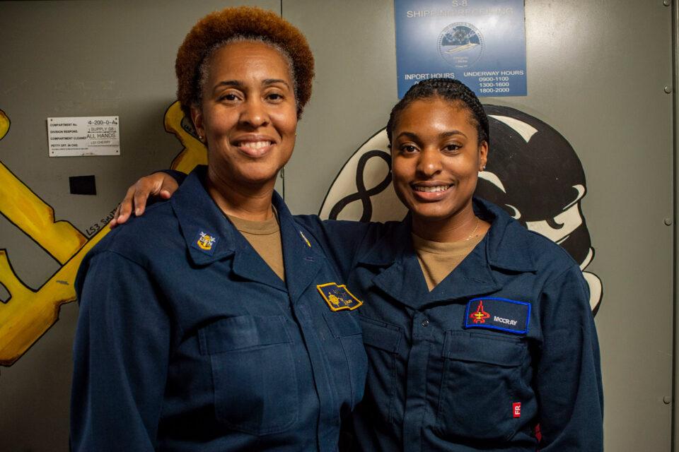 Navy, Tonya MCCray, Racquel McCray, training, ship