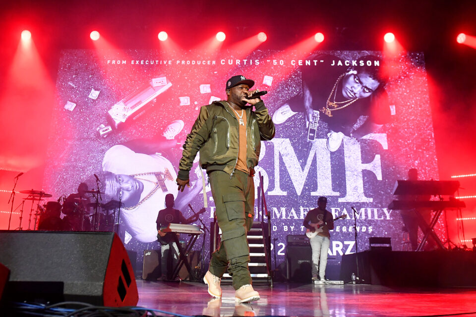 50 Cent Performs in Atlanta at STARZ BMF premiere