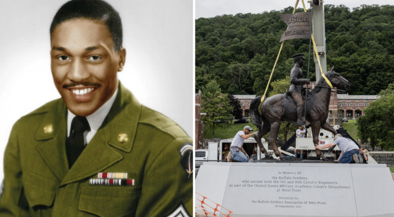 Buffalo Soldiers Statue at West Point (Twitter)