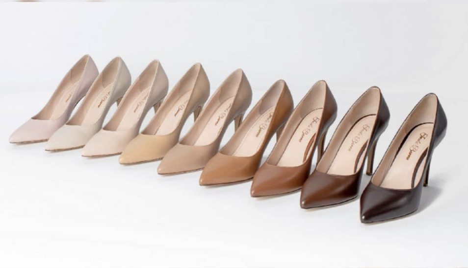 Jeneba Barrie, flesh-toned, luxury, shoes, footwear, third anniversary, nude