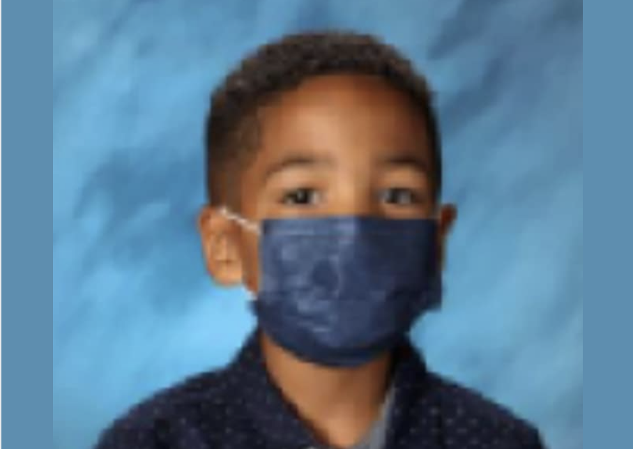 Mason, Nicole, Peoples, first-graders, mask, school pictures,