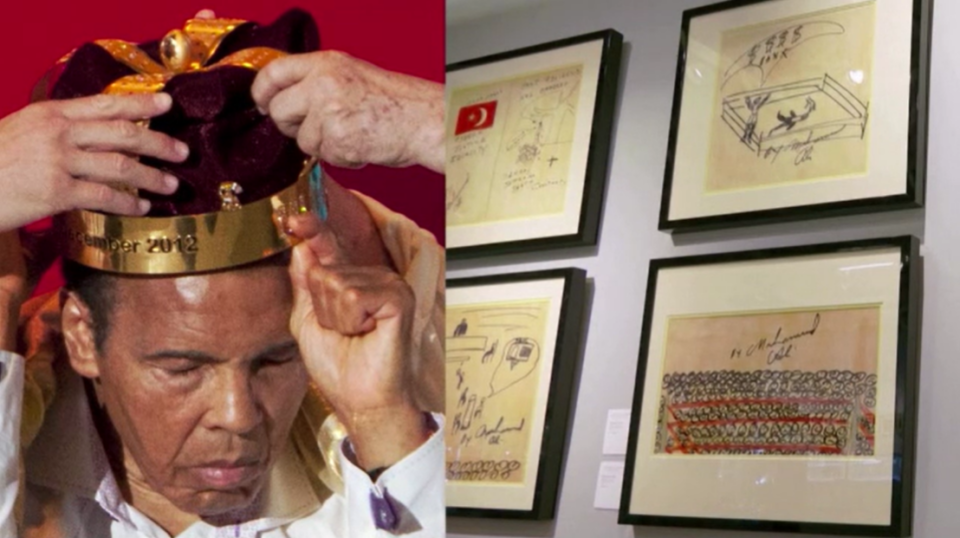 DRAWINGS BY BOXING LEGEND MUHAMMAD ALI UP FOR AUCTION
