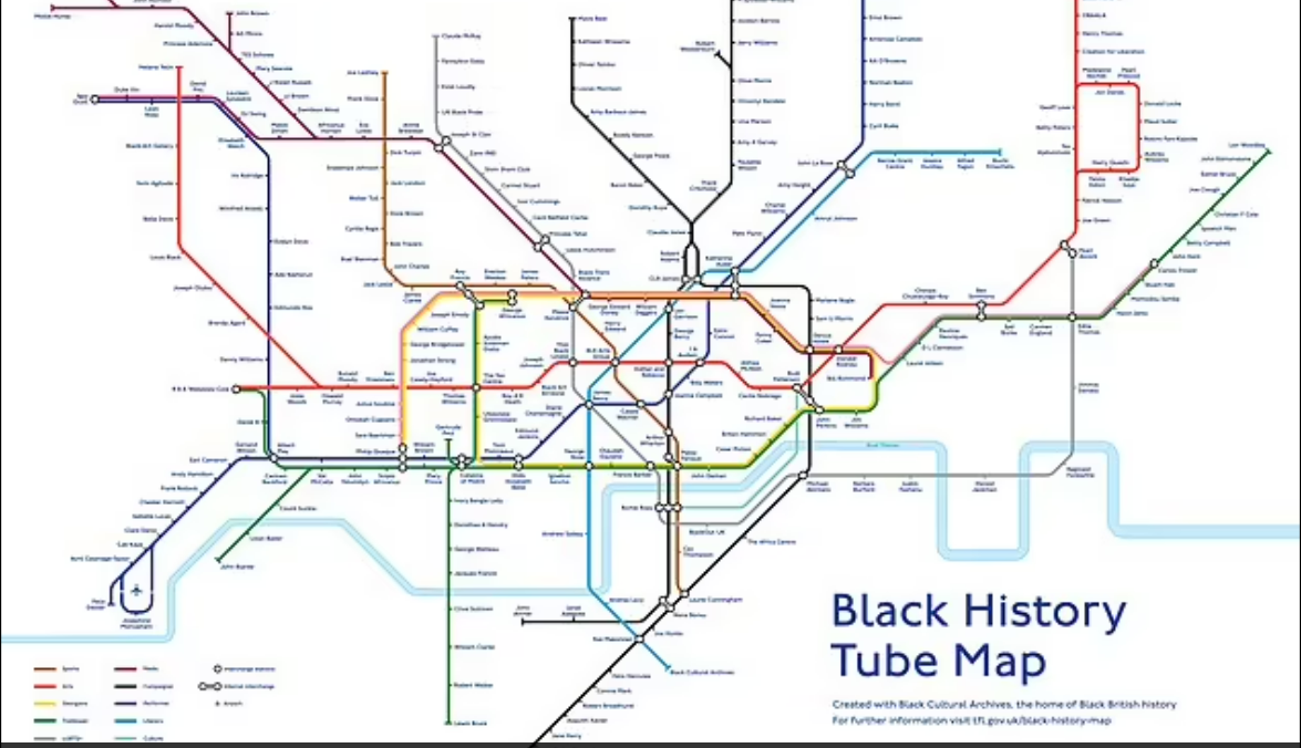 London Tube Map Redesigned With 272 Names of Notable, Historic Black Figures